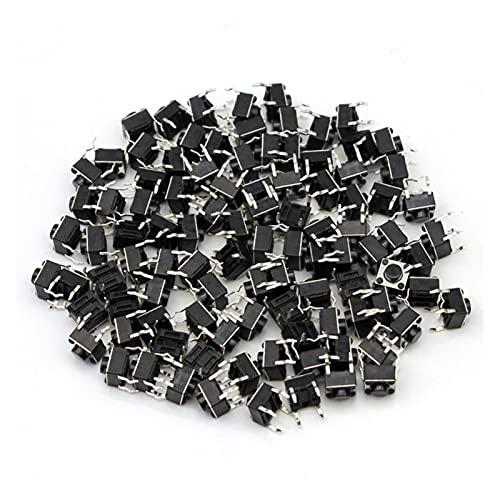 XIAOFANG 100 unids/Lote Mini Micro Micro Momoche Táctil Interruptor de botón 6 * 6 * 5 mm 4 Pin Encendido Apagado Botón de Llaves ADEREZO 6x6x5mm