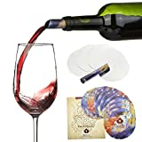 Agemore Wine Pourer Disc Set of 12 - Best Drip Stop Pour Spouts - Thin and Flexible Drop Stopping Disks by Agemore