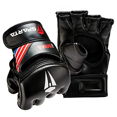 MMA Gloves for Grappling Martial Arts Training, D. Cut Open Palm - Sparring Mitts, Perfect for Cage Fighting, Combat Sports, Punching bag, Muay Thai and Kickboxing (S)