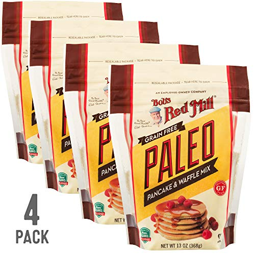 Bob's Red Mill Resealable Gluten Free Paleo Pancake & Waffle Mix, 13 Oz (4 Pack)