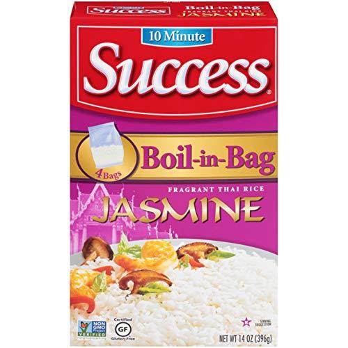 Success Boil-in-Bag Rice, Thai Jasmine Rice, 14 oz Box