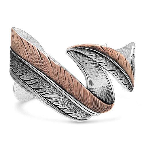 Montana Silversmiths Sunkissed Free Spirit Rose Feather Bracelet