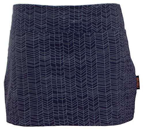 GURU SHOP Minirock aus Bio-Baumwolle, Hüftschmeichler, Organic Yoga Rock, Damen, Taubengrau, Size:L/XL (40), Röcke/Kurz Alternative Bekleidung