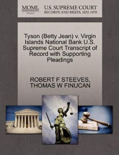 Tyson (Betty Jean) v. Virgin Islands National Bank U.S. Supreme Court Transcript of Record with Supporting Pleadings