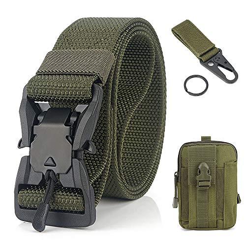 Leepesx Cintura con Fibbia in Metallo a sgancio rapido con Marsupio Cinturino con moschettone per la Pesca escursionistica da Campeggio