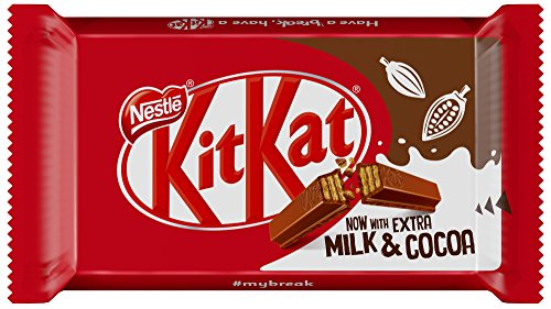 Snack Kit Kat Chocolatina, 45 g, 36 unidades