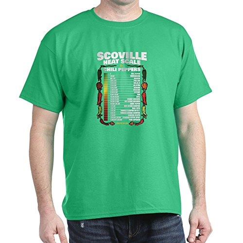 CafePress – Scoville Heat Scale – 100 % Baumwolle T-Shirt Gr. M, kelly green