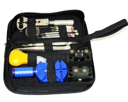 Oramics Werkzeugtasche 30tlg Spezial für Uhrmacher und Optiker Werkzeug Schraubenzieher Zange Set