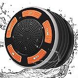 Altavoz Bluetooth DINTO Portatil Impermeable Inalámbrico IPX7 Altavoz para la de Ducha al Agua Supergraves Y Sonido HD Ventosa FM Adecuado para Reuniones Familiares al Aire Libre Junto al Mar Piscina