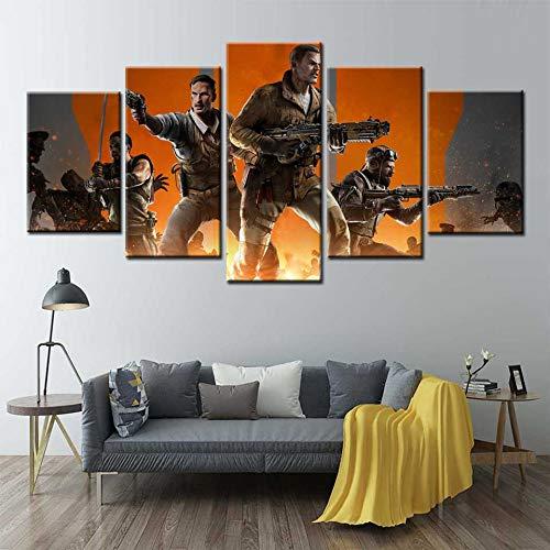Call Of Duty Black Ops 3 Poster 5 Panel Wandkunst Leinwand Malerei Wandbilder für Wohnzimmer Home Decor(Frame size)