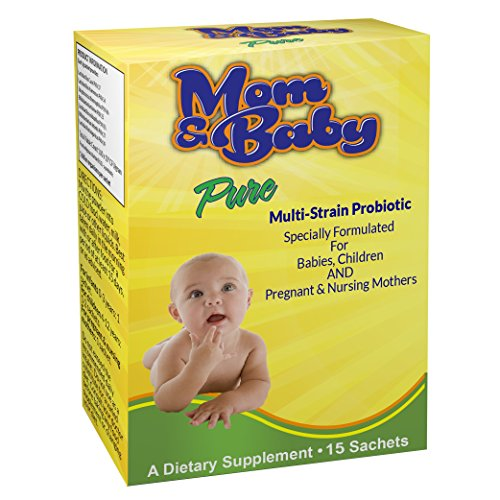 Probiotic Powder for Kids by Mom & Baby Pure (15 sachets) - Safe for Babies, Infants and Children - Relief for Colic, Diarrhoea, Constipation, Trapped Wind, Reflux - One Billion Friendly Multi-Strain Bacteria includes Lactobacillus Acidophilus plus FOS Prebiotics- Good for Pregnant & Breastfeeding Mothers to help support the Child's Immune System, Aid Digestion & Assist Those on Antibiotics - 1 sachet a day - Additive Free - #1 Quality Infant Supplement Made in the UK to GMP Standards
