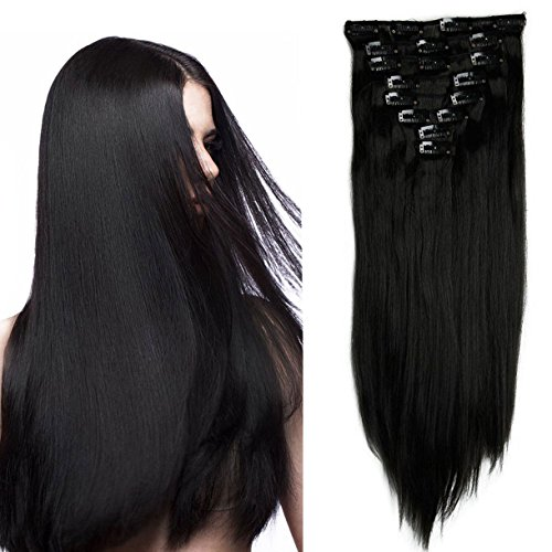 S-noilite® Set 8pcs 66cm extension capelli clip nelle