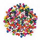 Ecicdo Fish Tank Rocks, Polished Multicolor Gravel, Decorative Stones Pebbles Sands for Fish Tank/Aquarium/Reptile Tank/Landscape Bottom Decoration, 2-Pounds