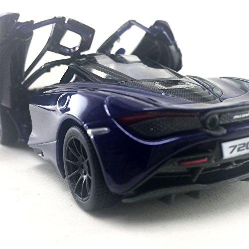 Kinsmart McLaren 720s Navy Blue 1:36 DieCast Model Toy Car Collectible Hobby Super Sport Car Collection