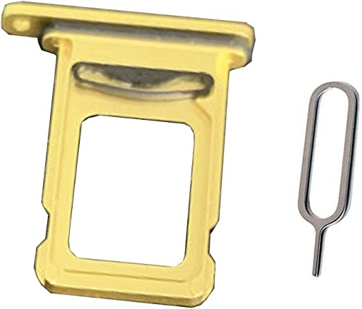 Draxlgon Dual SIM Card Tray Slot Holder Adapter for iPhone 11 Pro Max A2218 A2161 A2220 6.5inch Gold