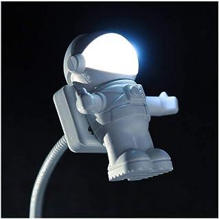 SGJFZD LED Night Light Astronaut LED Sensor Lamp Eye Protecting Sound Control LED Night Light (Color : White, Size : 9.2c...