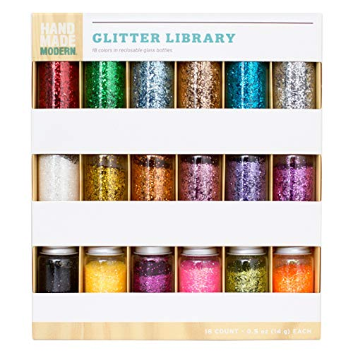 Hand Made Modern - 18pc Glitter Library - Assorted Colors