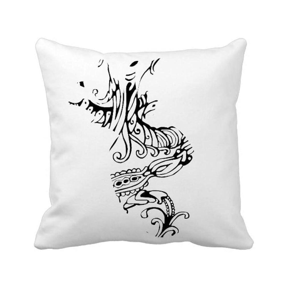 羊の属性船乗りライン塗装のドラゴンは中国の文化芸術 パイナップル枕カバー正方形を投げる 50cm x 50cm