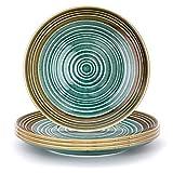 THE CHEF COLLECTION / SET de 4 Uds. Plato Llano Art 26, Colección Art, plato llano, porcelana colores, 26,5x26,5x2,6 cm