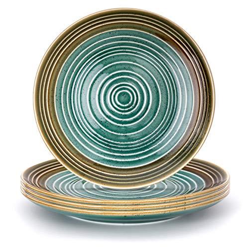 THE CHEF COLLECTION   SET de 4 Uds. Plato Llano Art 26, Colección Art, plato llano, porcelana colores, 26,5x26,5x2,6 cm
