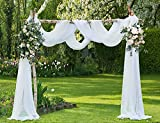 LinenZone Amazing Sheer Window Scarf Fabric Sheer Voile Curtain for Window Treatment - Add to Window Curtains for Enhanced Effect (56' W x 216' L, Ivory)