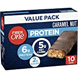 Fiber One Protein Bar, Caramel Chewy Bars, 6g Protein, Snacks, 60 Bars