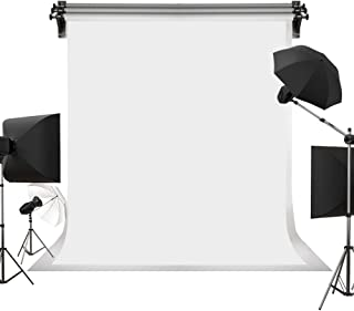 Best Kate 5ft×7ft Solid White Backdrop Portrait Background for Photography Studio Children and Headshots Background for Photography Video and Television Review