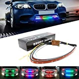 NSLUMO LED RGB Scanner Strip Running Lighting Bar - RGB 23' 60CM 7-Color Decorated Bumper Grille Light IR Remote Control Chassis Atmosphere Strip Led Bar (Pack of 2)