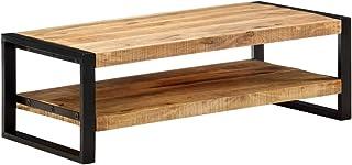 vidaXL Stolik kawowy z litego drewna mango z 2 poziomami, stolik pomocniczy, stolik kawowy, stolik do salonu, stolik do so...
