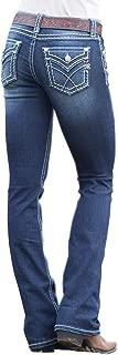 Womens Classic Bootcut Jeans in Dark Blue