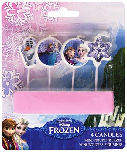 Disney- Frozen-Il Regno di Ghiaccio Candeline per Torta, Multicolore, 999257
