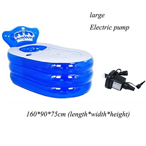Opblaasbare Badkuip Blauw Roze PVC 160 * 90 * 75cm (lengte*breedte*hoogte) 130 * 75 * 70cm (lengte*breedte*hoogte) Hand Pomp Elektrische Pomp Comfortabele Zomer Kind Volwassen