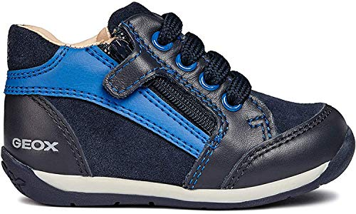 Geox B Each Boy A, Zapatillas para Bebés, (Navy/Royal C4226), 19 EU