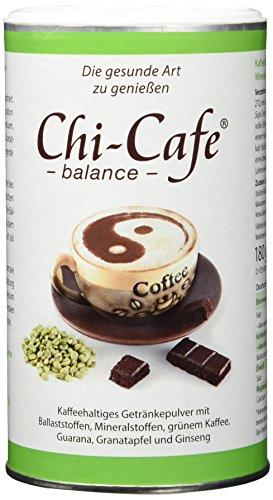 Chi-Cafe balance 180 g Dose 36 Tassen I veganer, löslicher Kaffee mit wertvollen Ballaststoffen I Kaffee, Guarana, Calcium, Magnesium I gute Verträglichkeit, für Energie, Nerven, Verdauung