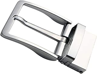 Baoblaze Simple Rectangular Belt Buckle Polished Reversible Ratchet Belt Buckle 40mm