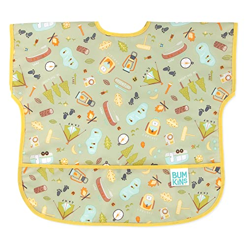 Bumkins Babero infantil impermeable para bebés de 1 a 3 años – Camp Gear