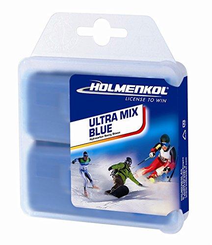 Holmenkol Unisex– Erwachsene Ultramix Blue Heißwachs, 2X 35 Gramm