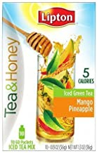 Lipton Tea & Honey To-Go Packets, Mango Pineapple Iced Green Tea 10 ea