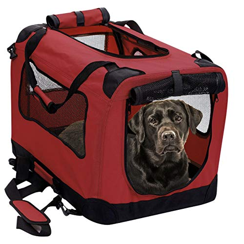 2PET Foldable Dog Crate - Soft, Easy to Fold &...
