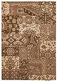 THEKO die markenteppiche Alfombra clásica, color marrón, 240 x 340 cm