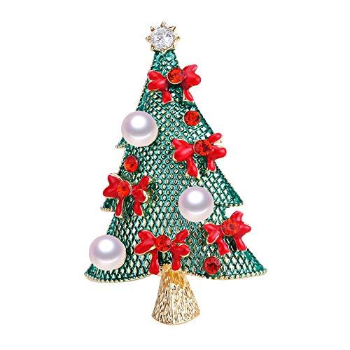 Xiatian Brosche Zubehör Neue Legierung Natürliche Süßwasser Perle Brosche Multi Perle Weihnachtsbaum Brosche Geschenke Fertig Großhandel Mantel Zubehör