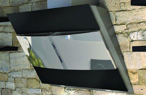 Airforce Cona LED Wandhaube (90 cm), Edelstahl / Glas
