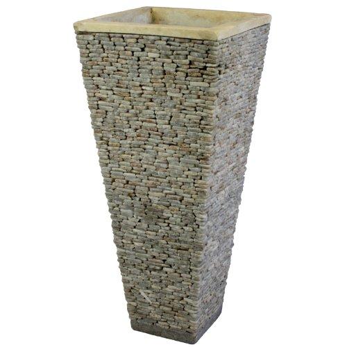 Wuona Objects Balinesische Stein-Vase 80 cm Eckig Onyx Marmor