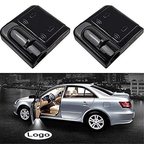 4 proyectores inalámbricos con logotipo personalizado, para puerta de coche, cortesía, luz de bienvenida para puerta de coche (para b/m/w)