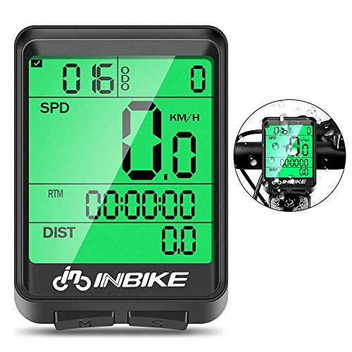 SANBLOGAN Fahrradcomputer wasserdichte Tacho Fahrrad Tacho Kabellos LCD Geschwindigkeit Fahrradtacho Wireless Bike Computer Motion Sensor für Radsport Realtime Geschwindigkeit und Distanz Track
