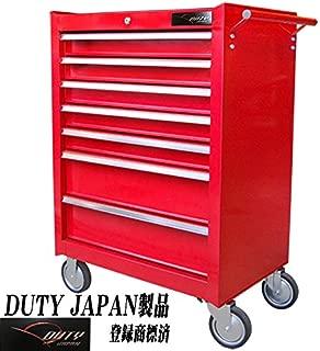 Duty Japan 強化7段ローラーキャビネット (赤)