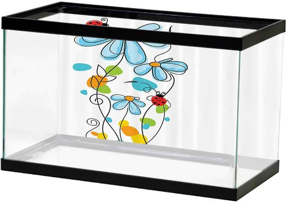 Max 87% OFF Ladybugs Decorations 3D Double-Sided a Flowers Tampa Mall AdhesiveWallpaper