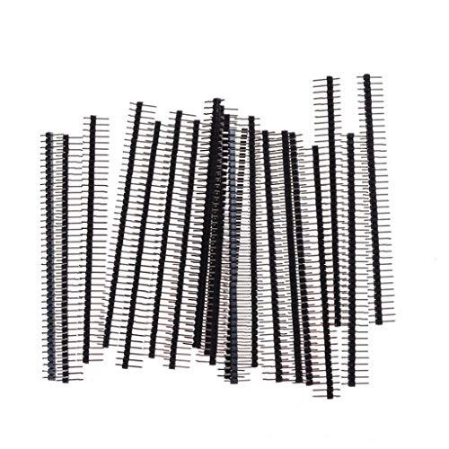 Dorime 20 2,54 1 × 40 Zeilen können eine einzige männliche 40-poligen Steckverbinder Stiftleiste Arduin elektronischer Komponenten Modulplatte Elektronik brechen,