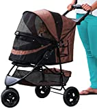 Pet Gear No-Zip Special Edition Pet Stroller, Espresso