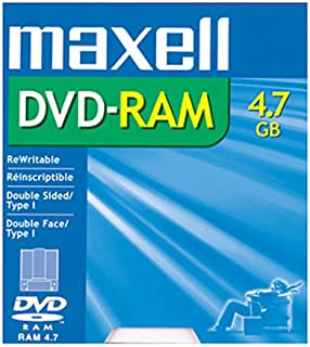 1-pack DVD-RAM Media 4.7GB Single Sided Rewritable (Discontinued by Manufacturer)